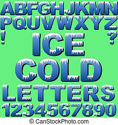 lettres, glace