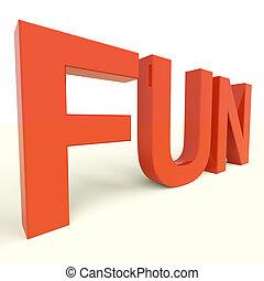 lettres, jouissance, plastique, amusement, mot, bonheur