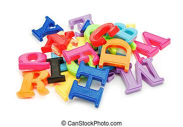 lettres, plastique