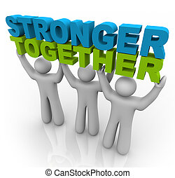 levage, -, plus fort, mots, ensemble