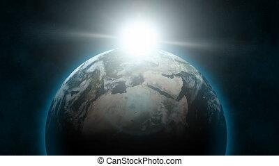 levers de soleil, 02, (24fps), la terre