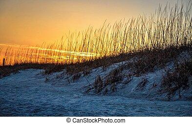 levers de soleil, océan
