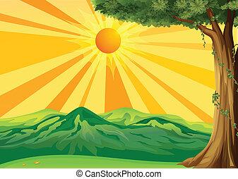 levers de soleil, vue