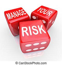 liabilities, dés, gérer, réduire, coûts, mots, ton, risque