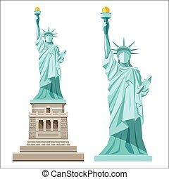 liberté, statue, amérique