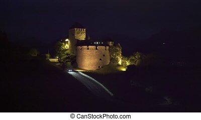 liechtenstein, vaduz, château, nuit