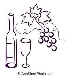 life., encore, vigne