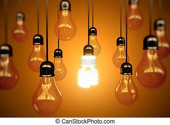 lightbulbs, jaune