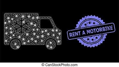 lightspots, loyer, caoutchouc, moto, réseau, voiture, réfrigérateur, toile, clair, timbre