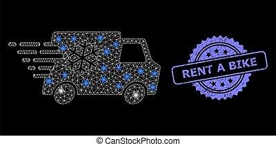 lightspots, loyer, caoutchouc, réseau, voiture, réfrigérateur, toile, clair, vélo, timbre