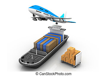 ligne aérienne, cargo