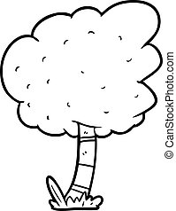 ligne, arbre, dessin