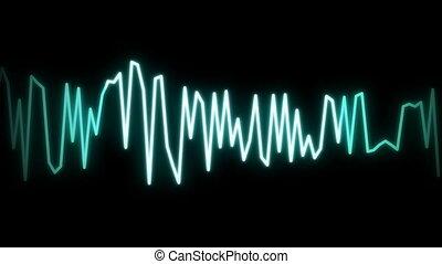 ligne, audio, noir, vague