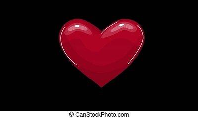 ligne, boucle, affichage écran, seamless, coeur, pulsation, animation., recherche, fond, monde médical, taux