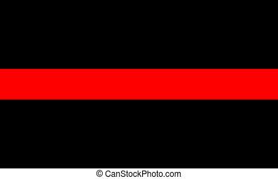 ligne, drapeau, rouges, mince