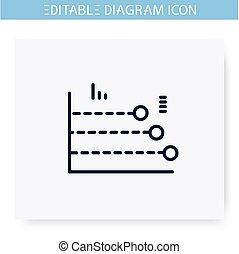 ligne, editable, illustration, icon., diagramme, phase