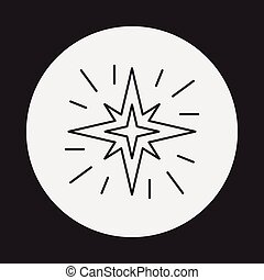 ligne, espace, étoile, icône