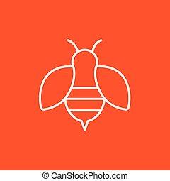 ligne, icon., abeille
