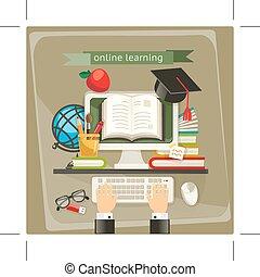 ligne, illustration, apprentissage