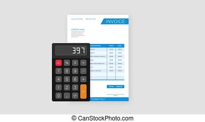 ligne, invoice., stockage, client, impôt, business, payment., template., carte, facture, concept., service, illustration.