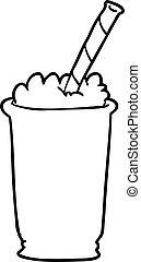 ligne, milk-shake, dessin