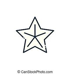 ligne, noël, étoile, heureux, icône