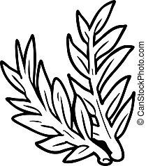 ligne, plante, dessin