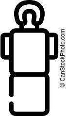 ligne, plat, table, icône, vecteur, illustration, masage