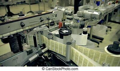ligne, production, produits, savon, convoyeur