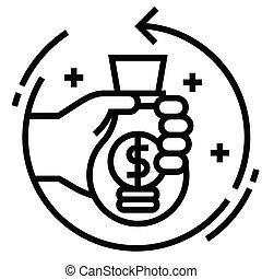 ligne, retour, investissement, illustration