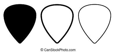 ligne, solide, sélectionne, guitare, vide