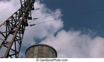 ligne transmission, centrale électrique