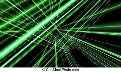 ligne, vert, 4k, 3d