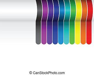 lignes blanches, coloré, fond