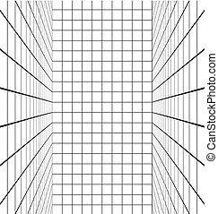 lignes blanches, salle, vertical