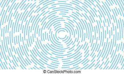 lignes, bleu, retro, circulaire, lumière, résumé, fond, mouvement