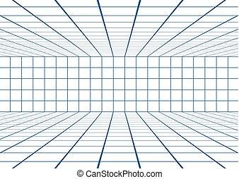 lignes bleu, salle, illustration