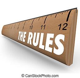 limites, règles, règle, directives, règlements, lois