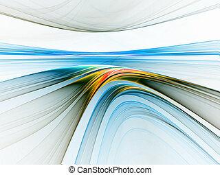 linéaire, coloré, horizon