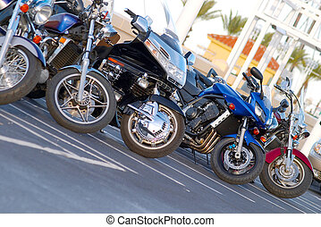 lineup, motocyclette