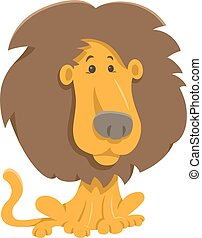 lion, caractère, dessin animé