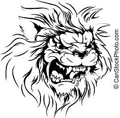 lion, caractère, mascotte
