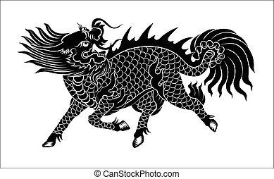 lion, chinois