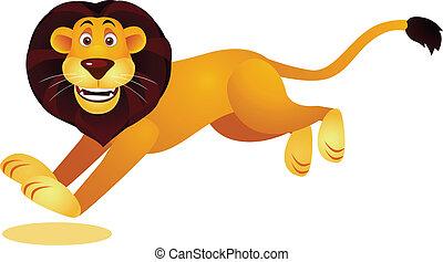 lion, courant