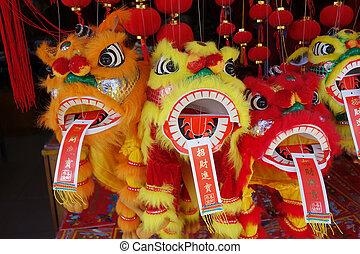 lion, danse, traditionnel