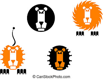 lion, icônes