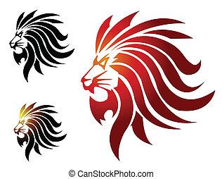 lion, mascotte
