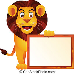 lion, signe blanc