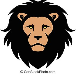 lion, tête, mascotte