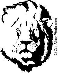 lion, tattoo-4, tête